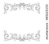 vintage baroque element... | Shutterstock .eps vector #485623153