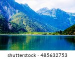 beautiful landscape  lake with... | Shutterstock . vector #485632753