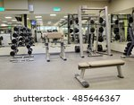 interior of a fitness hall with ...   Shutterstock . vector #485646367