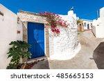 traditional front door in... | Shutterstock . vector #485665153