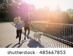 fitness  sport  people and... | Shutterstock . vector #485667853