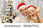 people  christmas  holidays and ... | Shutterstock . vector #485667913