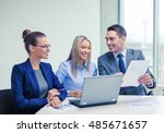 business  technology and office ... | Shutterstock . vector #485671657