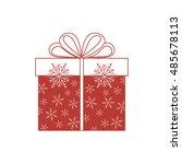 vector illustration of gift box ... | Shutterstock .eps vector #485678113