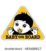 baby on board sign. vector...   Shutterstock .eps vector #485688817