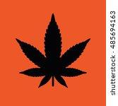 marijuana leaf icon. orange... | Shutterstock .eps vector #485694163