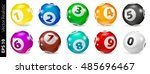 vector colorful bingo. lottery... | Shutterstock .eps vector #485696467
