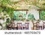 wedding decor  table setting ... | Shutterstock . vector #485703673