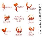sets of phoenix logo design... | Shutterstock .eps vector #485720413