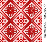 seamless knitting pattern with... | Shutterstock .eps vector #485722777