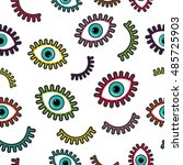 Seamless Pattern With Vibrant...