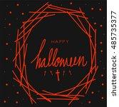 happy halloween word in the... | Shutterstock .eps vector #485735377