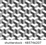abstract black and white 3d... | Shutterstock .eps vector #485746207