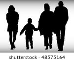 drawing parents and children.... | Shutterstock . vector #48575164
