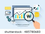 business flat illustration | Shutterstock .eps vector #485780683
