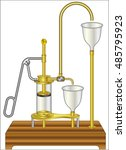 suction pump with basin | Shutterstock .eps vector #485795923