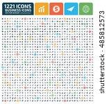 business icon set vector | Shutterstock .eps vector #485812573
