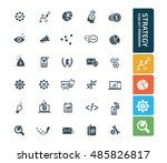 strategy and business icon set. ... | Shutterstock .eps vector #485826817
