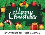 merry christmas hand lettering... | Shutterstock .eps vector #485828917