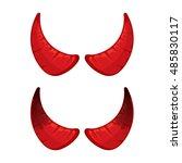 vector illustration of red... | Shutterstock .eps vector #485830117