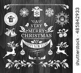 christmas decorations ... | Shutterstock .eps vector #485842933