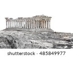 ruins of the temple parthenon... | Shutterstock . vector #485849977