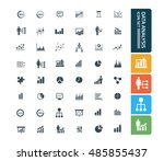 data analysis icon set vector | Shutterstock .eps vector #485855437