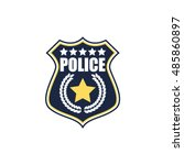 police badge | Shutterstock .eps vector #485860897