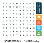 education and science icon set ...
