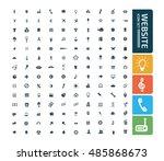 website icon set vector | Shutterstock .eps vector #485868673