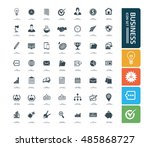 business and office icon set... | Shutterstock .eps vector #485868727