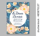 wedding invitation or card with ... | Shutterstock .eps vector #485870137