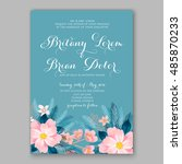 wedding invitation or card with ... | Shutterstock .eps vector #485870233