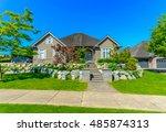 big custom made luxury house... | Shutterstock . vector #485874313
