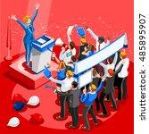 election infographic democrat... | Shutterstock .eps vector #485895907