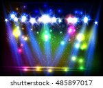 party  stage  disco  light ... | Shutterstock .eps vector #485897017