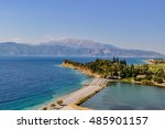 typical greek sea landscape and ... | Shutterstock . vector #485901157