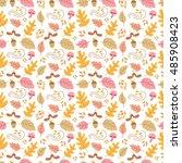 Vector Autumn Seamless Pattern...