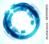 geometric frame  vector... | Shutterstock .eps vector #485909893