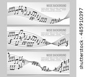 music banners vector set with... | Shutterstock .eps vector #485910397