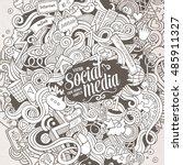 cartoon cute doodles hand drawn ... | Shutterstock .eps vector #485911327