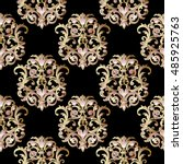 Baroque Damask Antique  Black...