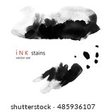 background with ink stains.... | Shutterstock .eps vector #485936107