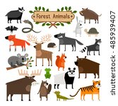 collection of cartoon forest... | Shutterstock .eps vector #485939407