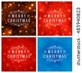 christmas typography greeting... | Shutterstock .eps vector #485940823