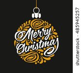 holidays greeting card with... | Shutterstock .eps vector #485945257