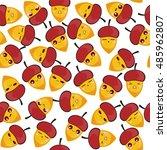 vector seamless pattern. cute ... | Shutterstock .eps vector #485962807