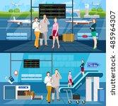 airport horizontal banners... | Shutterstock .eps vector #485964307