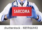 doctor's hands in blue gloves... | Shutterstock . vector #485966443