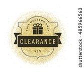 sale label or tag design on...   Shutterstock .eps vector #485966563